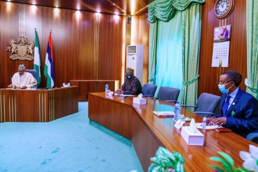 COVID-19 Task Force Briefs Buhari (Photos)