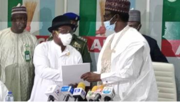 Giadom Hands Over To APC Caretaker Committee Chairman, Mala Buni